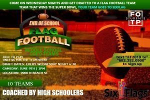 End of School Flag Football | Middle School Students 6th - 8th Grade @ NFW Campus | Keller | Texas | United States
