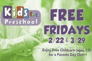 FREE FRIDAYS at Kids Inc Preschool | Grapevine Campus @ Fellowship of the Parks - Grapevine Campus | Grapevine | Texas | United States